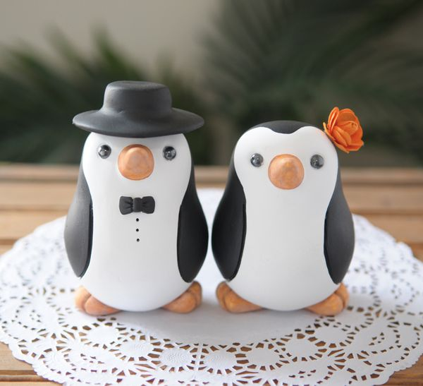 penguin cake toppers wedding redlightstudioblog new size for the penguin cake toppers 6441
