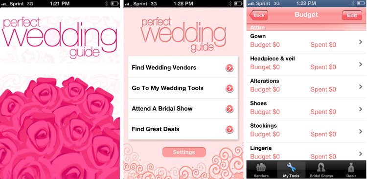 PWG Perfect Wedding Guide app